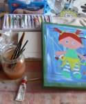 w trakcie malowania